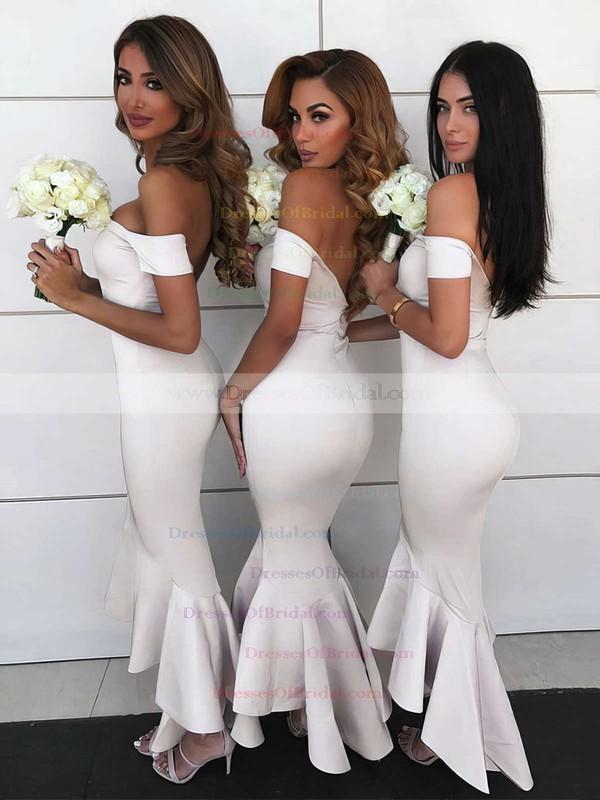 e313e70349cc Silk-like Satin Trumpet/Mermaid Off-the-shoulder Asymmetrical Bridesmaid  Dresses #