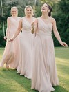 Chiffon A-line One Shoulder Floor-length Ruffles Bridesmaid Dresses #DOB01013618