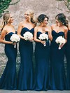 Silk-like Satin Trumpet/Mermaid Sweetheart Floor-length Bridesmaid Dresses #DOB01013648
