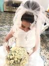 Satin Trumpet/Mermaid Scoop Neck Sweep Train Wedding Dresses #DOB00023326