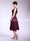 Square A-line Tea-length Chiffon Ruffles Bridesmaid Dresses #DOB01012033