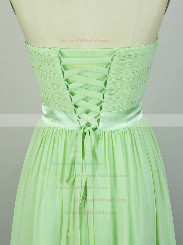 A-line Sweetheart Chiffon Floor-length with Sashes / Ribbons Bridesmaid Dresses #DOB010020104243