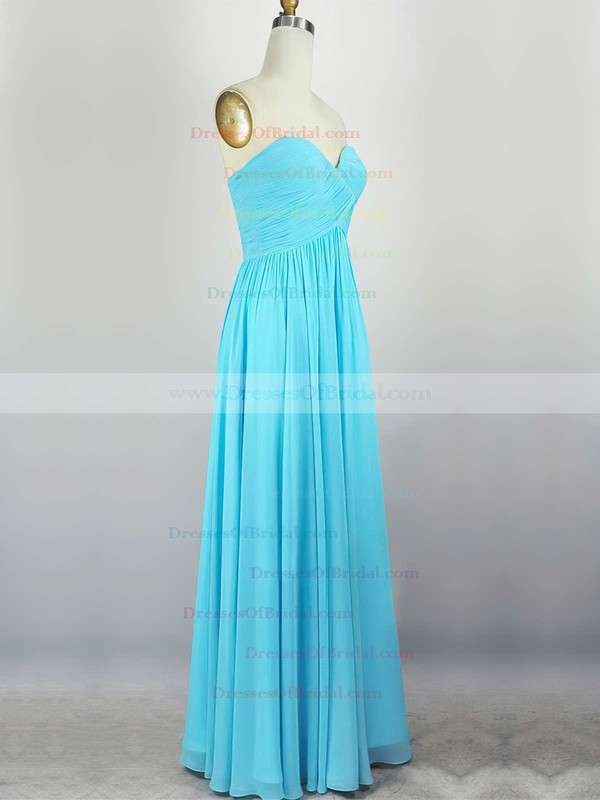 Empire Sweetheart Chiffon Floor-length with Pleats Bridesmaid Dresses #DOB010020104308