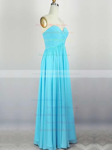 Empire Sweetheart Chiffon Floor-length with Pleats Bridesmaid Dresses #DOB010020104308