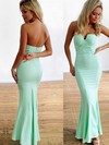 Trumpet/Mermaid Strapless Jersey Ankle-length with Ruffles Bridesmaid Dresses #DOB010020104418