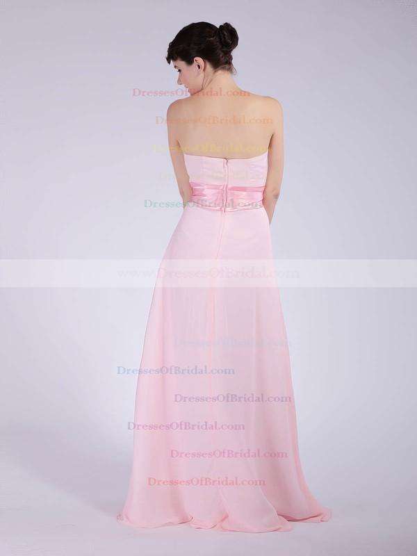 Strapless A-line Floor-length Chiffon Sashes/Ribbons Bridesmaid Dresses #DOB01012040