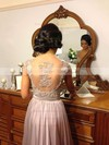 A-line Straps Chiffon Floor-length Appliques Bridesmaid Dresses #DOB01002015284
