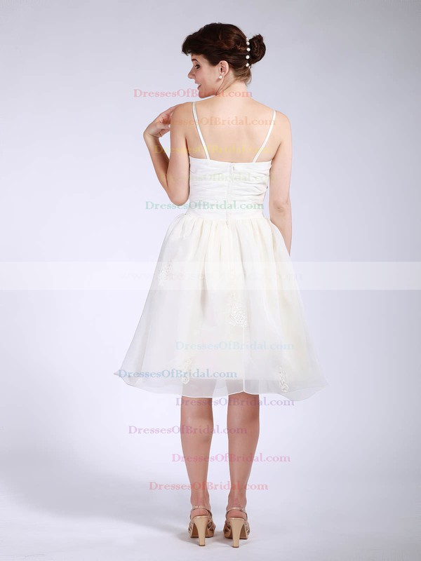 Sweetheart Ball Gown Knee-length Organza Pleats Bridesmaid Dresses #DOB01012047