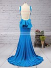 Trumpet/Mermaid Scoop Neck Jersey Sweep Train Ruffles Bridesmaid Dresses #DOB01002016910