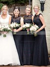Lace A-line Scalloped Neck Floor-length Bridesmaid Dresses #DOB01013751
