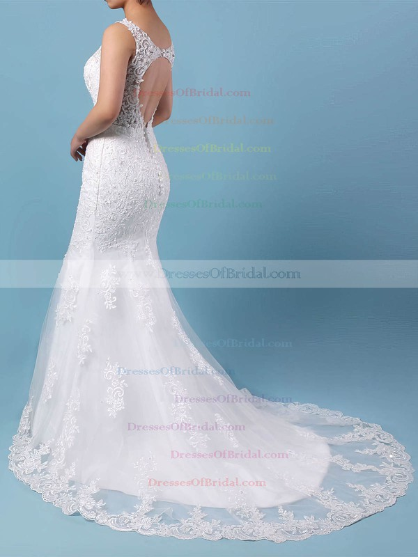 Tulle Trumpet/Mermaid V-neck Detachable Beading Wedding Dresses #DOB00023148