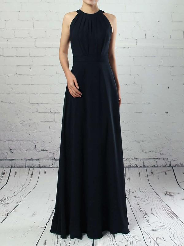 A-line Scoop Neck Chiffon Floor-length Sashes / Ribbons Bridesmaid Dresses #DOB01013472
