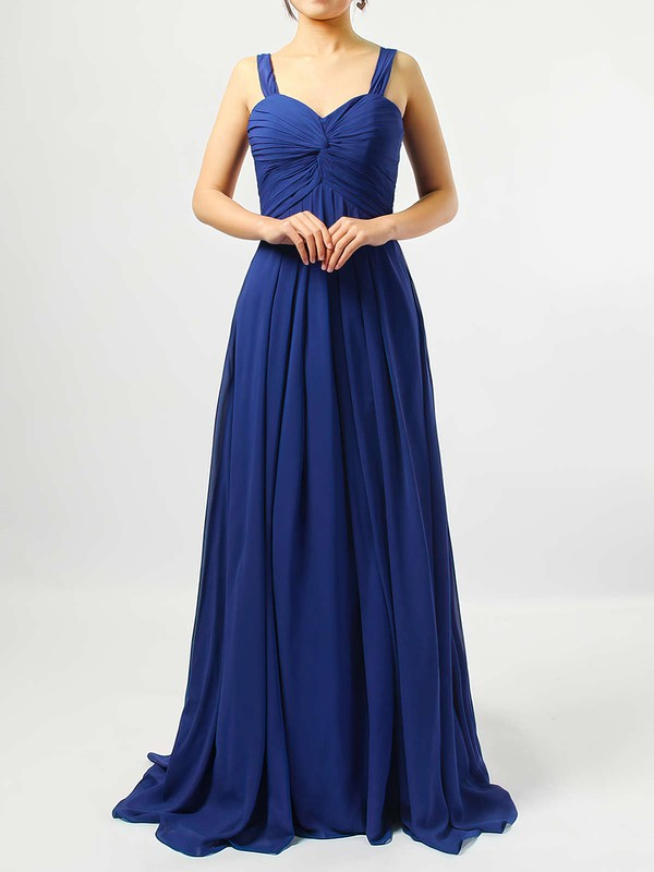 Empire Sweetheart Chiffon Floor-length Criss Cross Bridesmaid Dresses #DOB01013545