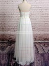 Spaghetti Straps Empire Floor-length Tulle Satin Lace Wedding Dresses #DOB00020485