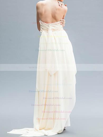 Strapless A-line Asymmetrical Chiffon Ruffles Wedding Dresses #DOB00020559