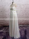 Spaghetti Straps Empire Floor-length Tulle Satin Lace Wedding Dresses #DOB00020573