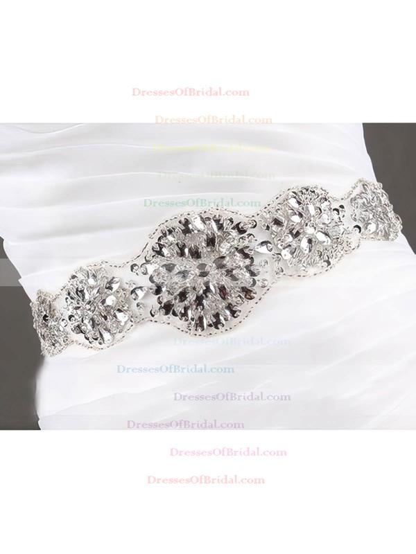 Sweetheart Trumpet/Mermaid Sweep Train Organza Tulle Tiered Wedding Dresses #DOB00020610