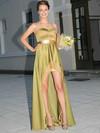 Sweetheart A-line Asymmetrical Chiffon Silk-like Satin Sashes / Ribbons Bridesmaid Dresses #DOB02018120