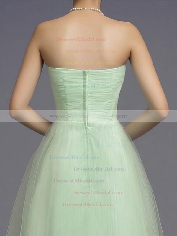 Sweetheart A-line Floor-length Tulle Beading Bridesmaid Dresses #DOB02018044
