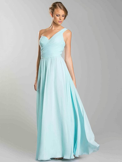 Sweetheart A-line Floor-length Chiffon Ruffles Bridesmaid Dresses #DOB02018054